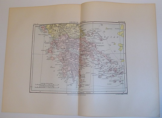 Image for Colour Map of Greece - Circa 1902