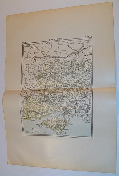 Image for Map of Hampshire, England - Circa 1902