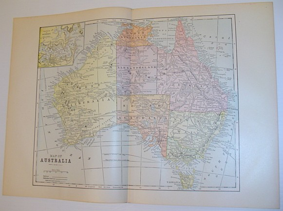 Image for Colour Map of Australia - Circa 1902