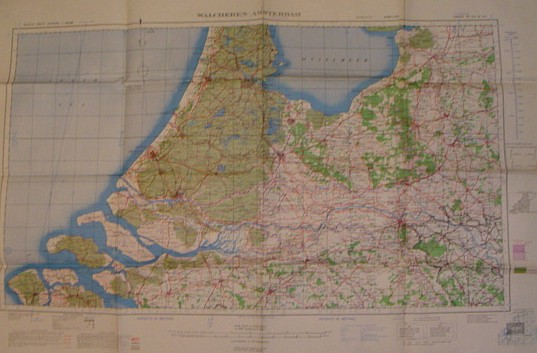 Image for British World War II Map of Walcheren-Amsterdam