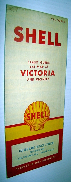 Image for 1957 Shell Street Guide and Map of Victoria, British Columbia (B.C.) And Vicinity