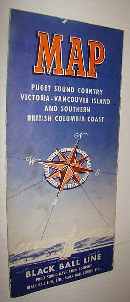 Image for Black Ball Line (Ferry) Map: Puget Sound Country, Victoria - Vancouver Island, and Southern British Columbia Coast