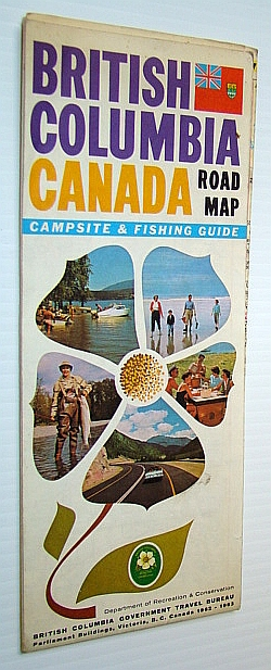 Image for British Columbia Road Map 1962-1963 - With Campsite and Fishing Guide