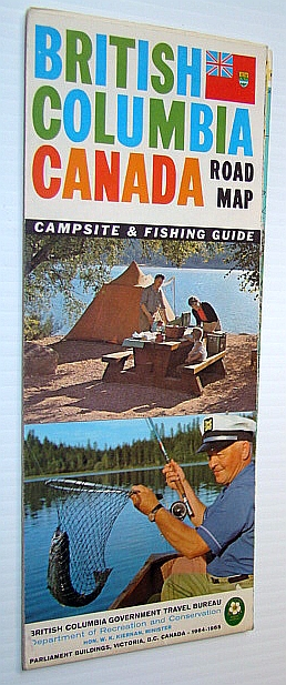 Image for British Columbia Road Map 1964-1965 - With Campsite and Fishing Guide