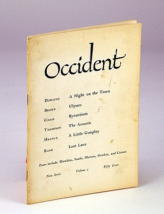 Image for OCCIDENT New Series Volume I Spring 1961