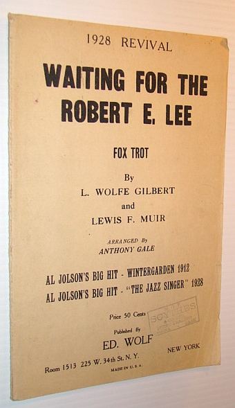 Image for Waiting for the Robert E. Lee - Foxtrot - 1928 Revival: Sheet Music for Piano and Violin Plus Lyrics