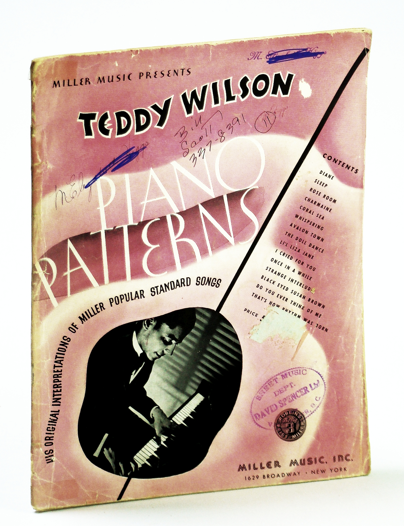 Image for Teddy Wilson Piano Patterns - His Original Interpretations of Miller Popular Standard Songs: Piano Sheet Music