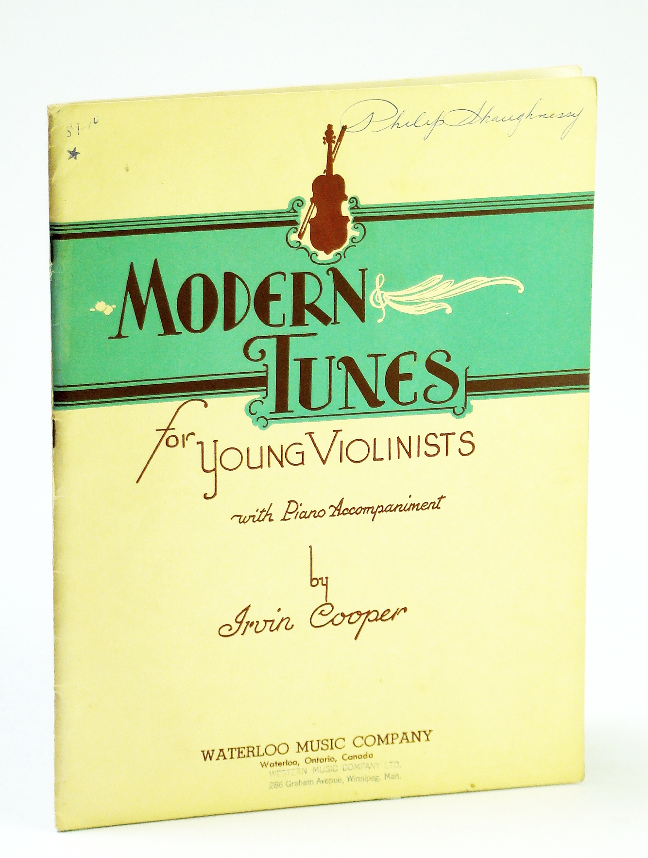 Image for Modern Tunes for Young Violinists, with Piano Accompaniment
