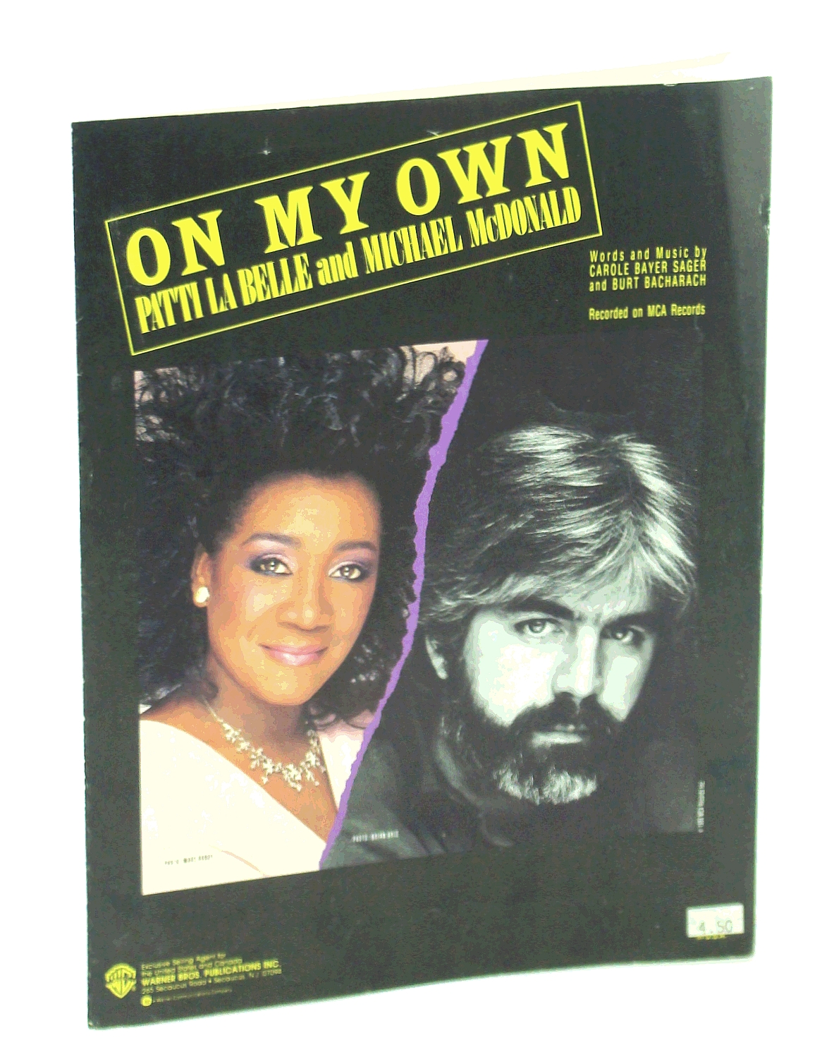 Image for On My Own - Recorded by Patti La Belle & Michael McDonald (Piano Vocal Guitar) Sheet Music 1986
