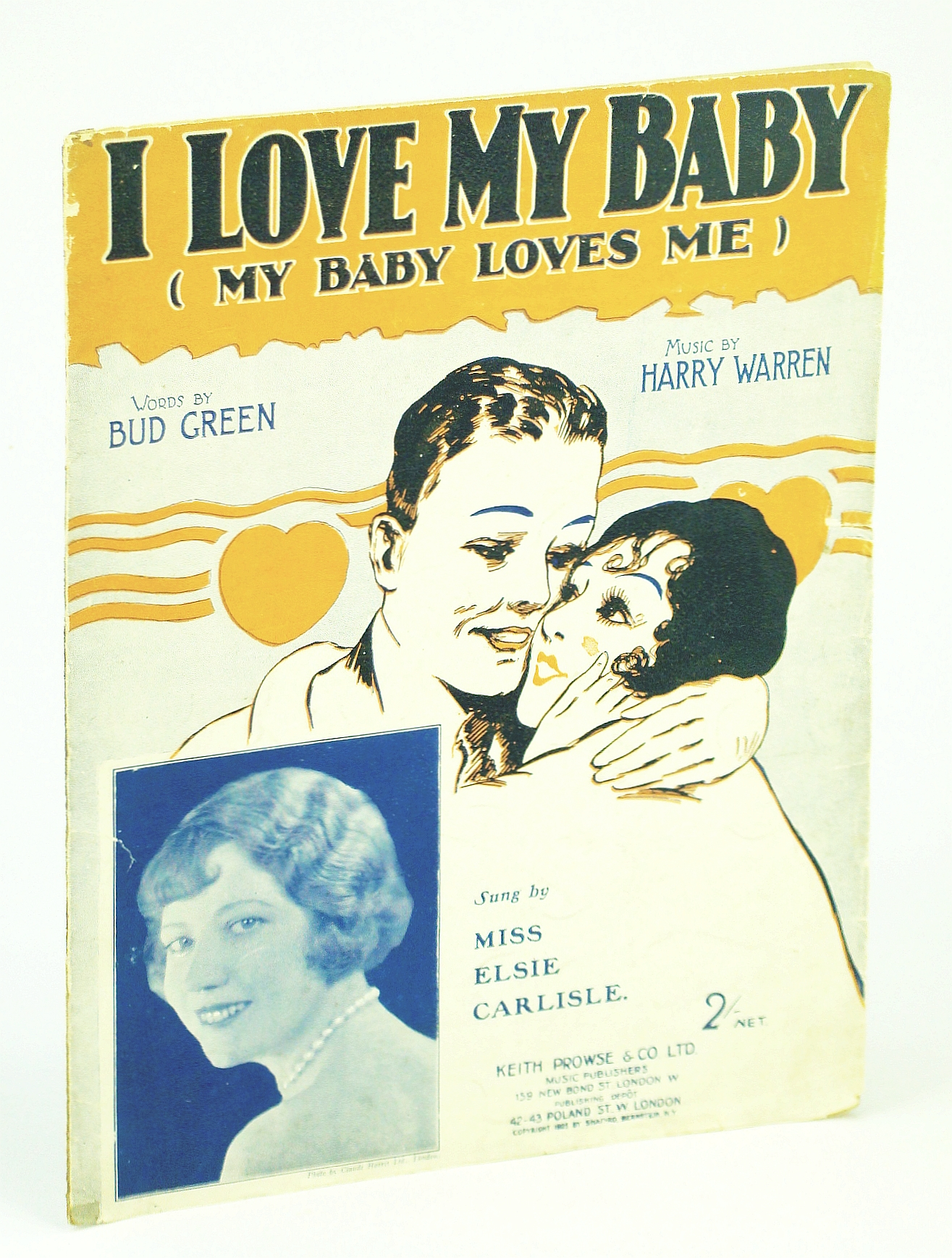 Image for I Love My Baby (My Baby Loves Me): Sheet Music for Piano and Voice - Cover Photo of Elsie Carlisle
