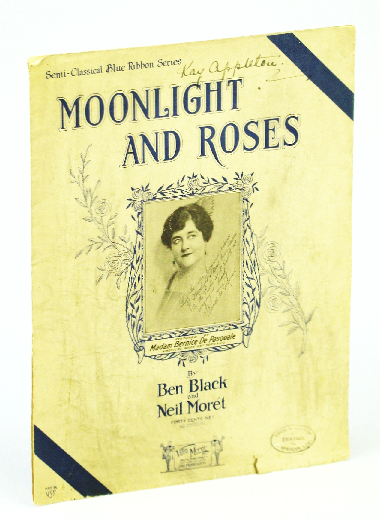 Image for Moonlight and Roses: Sheet Music for Voice and Piano with Ukulele Chords