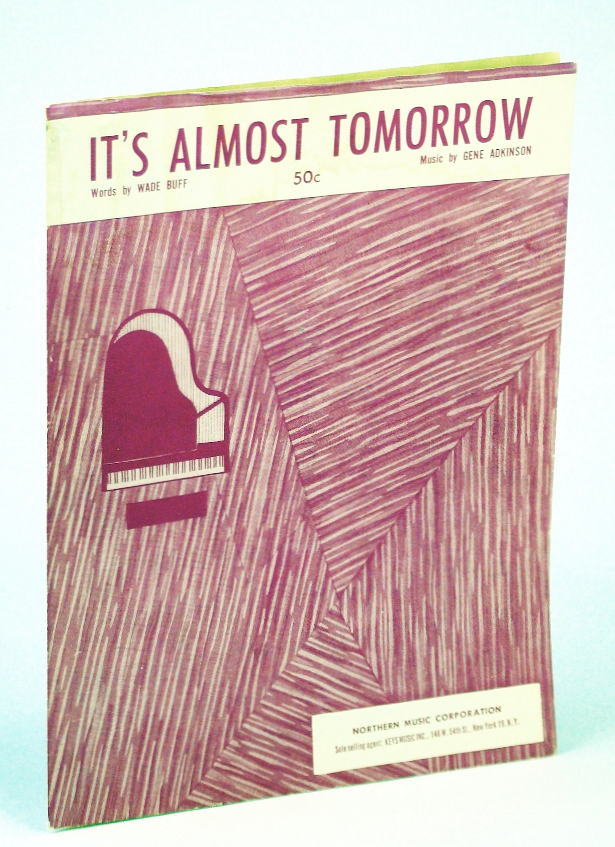 Image for Sheet Music 1955 It's Almost Tomorrow Wade Buff and Gene Adkinson 17