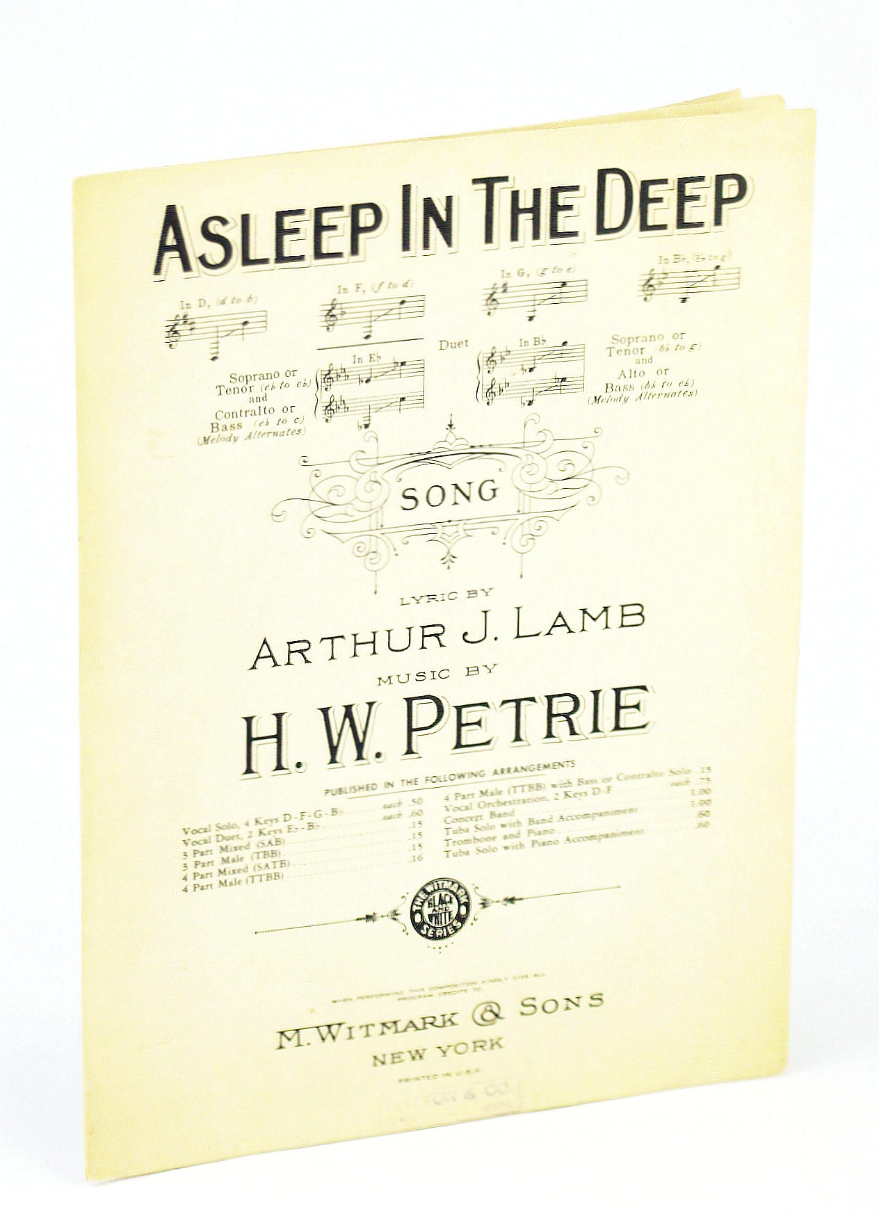 Image for Asleep In The Deep (Sheet Music)