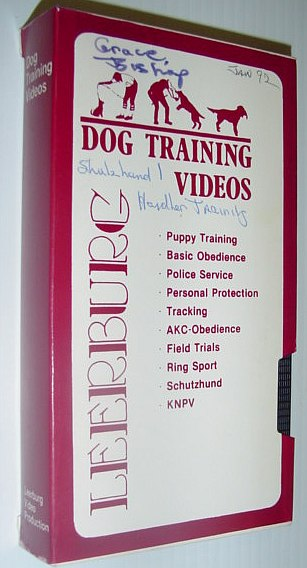 Image for Leeburg Dog Training Video: Schutzhund I Handler Training - VHS Tape in Case
