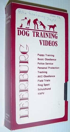 Image for Leeburg Dog Training Video: Bite Training Puppies - VHS Tape in Case