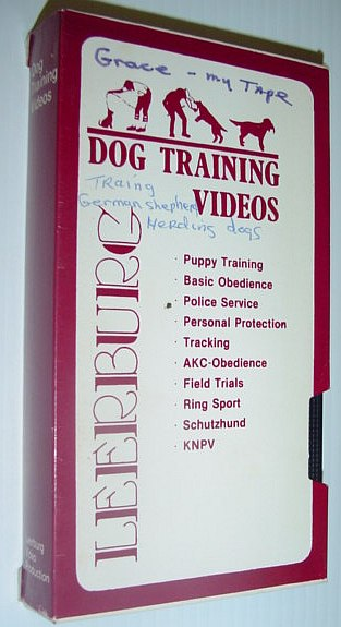 Image for Leeburg Dog Training Video: Training German Sheep Herding Dogs - VHS Tape in Case