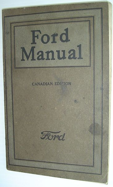 Image for Ford Manual - Canadian Edition: 1920 Edition