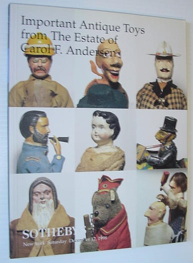 Image for Important Antique Toys from the Estate of Carol F. Andersen - Sotheby's Auction 7238, December 12, 1998