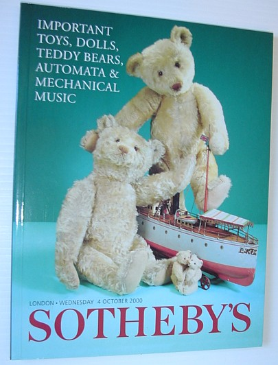 Image for Important Toys, Dolls, Teddy Bears, Automata & Mechanical Music - Sotheby's Auction Catalogue #L00559, 4 October 2000