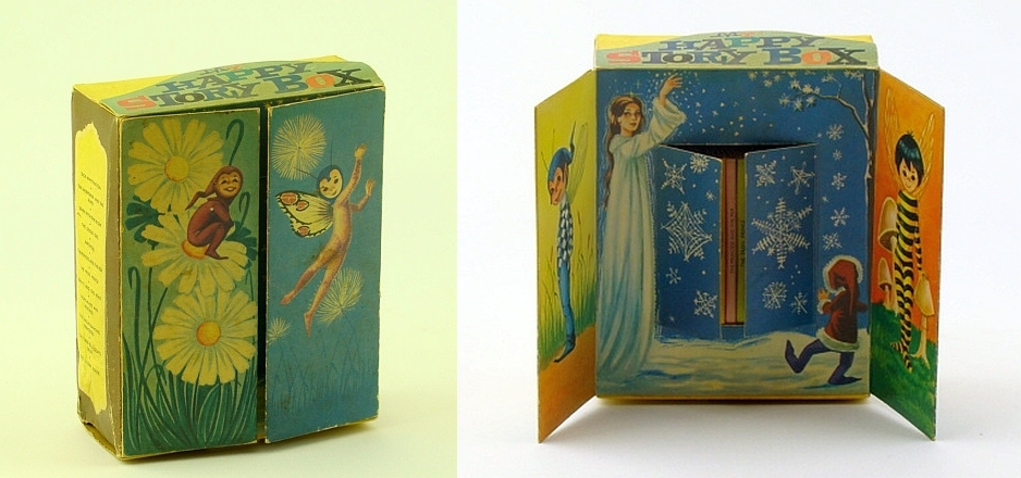 "Image for My Happy Story Box - Illustrated Cardboard ""Casket"" Display Case Containing 12 Miniature-Sized Popular Fairy Tales By Famous Authors"