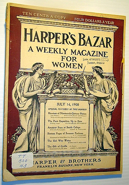 Image for Harper's Bazar (Bazaar) - A Weekly Magazine for Women, July 14, 1900 - Amateur Stars at Smith College