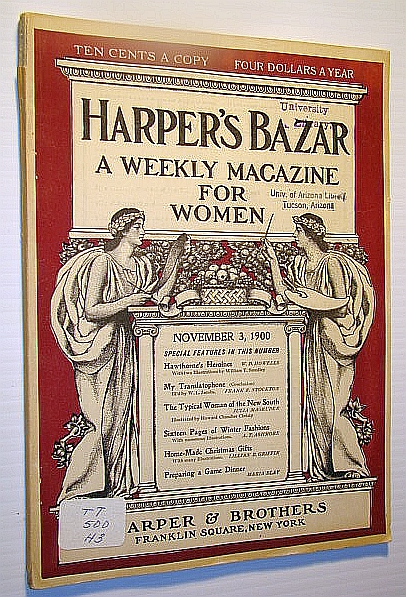 Image for Harper's Bazar (Bazaar) - A Weekly Magazine for Women, November 3, 1900 - French Fashions for Autumn