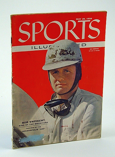 Image for Sports Illustrated Magazine, May 28, 1956: Bob Sweikert Indy (Indianapolis) 500 Cover Photo