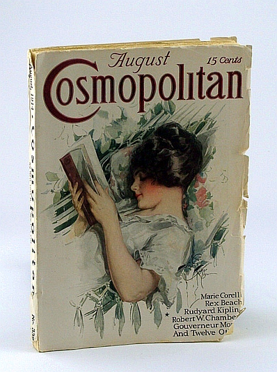 Image for Cosmopolitan Magazine, August, 1914, Number (No. / #) 339, Vol. LVII, No. 3 - Harrison Fisher Cover