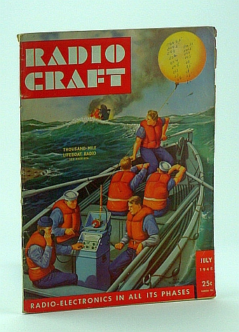 Image for Radio Craft, and Popular Electronics, Incorporating Short Wave Craft, Television News, Radio and Television, July 1945, Volume XVI, No. 10 - Alex Schomburg Cover Art