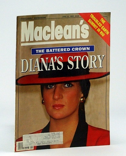 Image for Maclean's - Canada's Weekly News Magazine, June 15, 1992 - Cover Photo of Diana, Princess of Wales