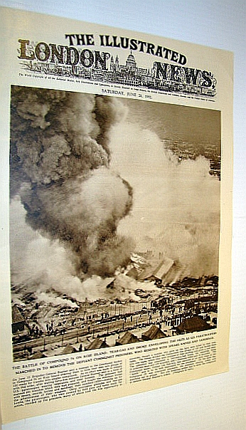 Image for The Illustrated London News (ILN), June 21, 1952 -  Cover Photo of the Battle of Compound 76 on Koje Island