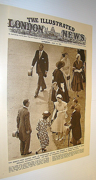 Image for The Illustrated London News (ILN), July 19, 1952 -  Cover Photo of The Queen's First Garden Party at Buckingham Palace
