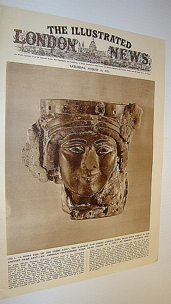 Image for The Illustrated London News (ILN), August 16, 1952 -  Cover Photo of Assyrian Polychrome Ivory Head Found at Nimrud