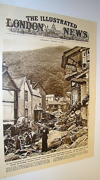 Image for The Illustrated London News (ILN), August 23, 1952 -  Cover Photo of  Flooding Devastation to the Main Street of Lynmouth