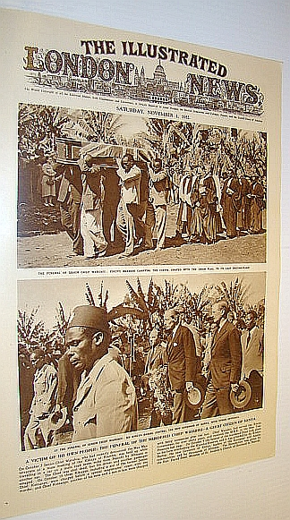 Image for The Illustrated London News (ILN), November 1, 1952 -  Cover Photos of the Funeral of Murdered Chief Waruhiu - Great Citizen of Kenya