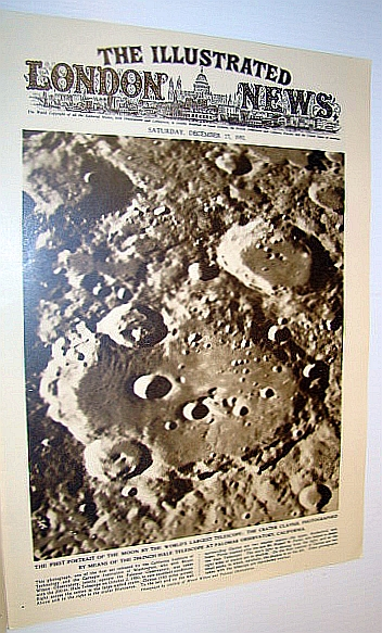 Image for The Illustrated London News (ILN), December 27, 1952 - Cover Photo of the First Portrait of the Moon By the World's Largest Telescope at the Palomar Observatory
