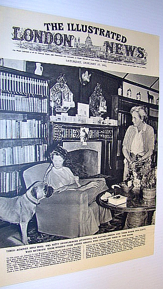 Image for The Illustrated London News (ILN) January 17, 1953 - Cover Photo of Kitty Hesselberger and Mrs. Raynes-Simson, Who Routed Four Armed Kikuyu