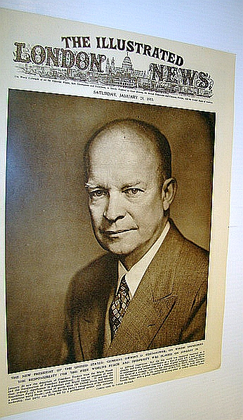 Image for The Illustrated London News (ILN) January 24, 1953 - Cover Photo of Newly-inaugurated President Dwight D. Eisenhower / Trial of the Killers of Oradour-Sur-Oradour in France