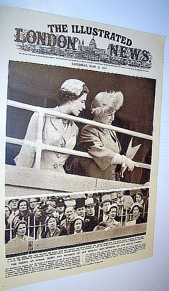 Image for The Illustrated London News (ILN) Magazine, June 12 1954 -  Cover Photo of the Queen at Epsom