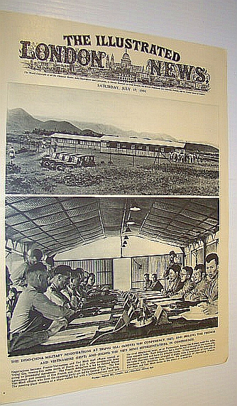 Image for The Illustrated London News (ILN) Magazine, July 17 1954 -  Cover Photo of Indo-China Military Negotiations