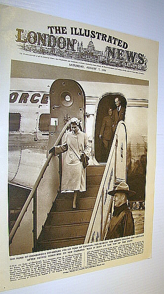 Image for The Illustrated London News (ILN) Magazine, August 7, 1954 -  Duke of Edinburgh Departs for Canada