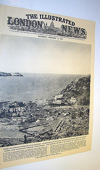 Image for The Illustrated London News (ILN) Magazine, February 19, 1955 -  Cover Photo of an Abandoned Harbour on North Tachen Island