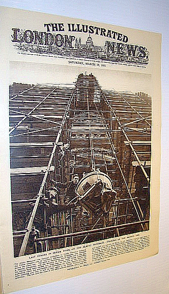 Image for The Illustrated London News (ILN) Magazine, March 19, 1955 -  Repair Work on the Albert Memorial