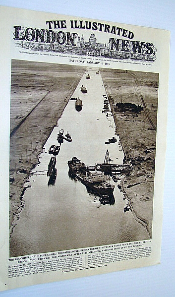 Image for The Illustrated London (ILN) News, January 8, 1955 - Blocking of the Suez Canal