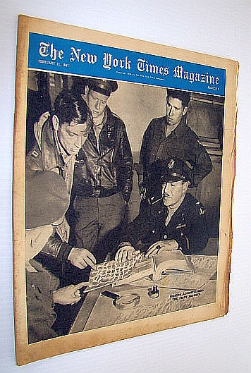 Image for The New York Times Magazine, February 11, 1945 -  Photos of Target Berlin and Target Tokyo / General Lewis A. Pick