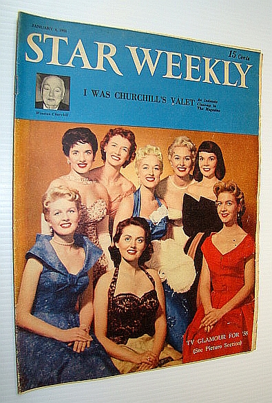 Image for (Toronto) Star Weekly, January 4 1958 - Gorgeous Cover Photo Includes Gloria Lambert, Peggi Loder, Juliette, Sylvia Murphy, Joyce Hahn, Corinee Conley, Joan Fairfax and Joyce Sullivan