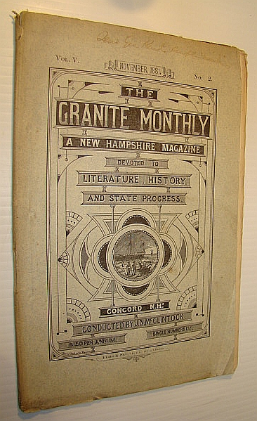 Image for The Granite Monthly - A New Hampshire Magazine of Literature, History, and State Progress, November 1881, Vol. V, No. 2 - Anson Southard Marshall