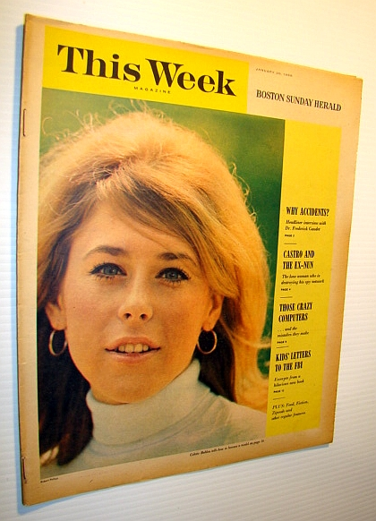 Image for This Week Magazine, January 30, 1966 - Insert to the Boston Sunday Herald: Wonderful Color Cover Photo of Model Colette Bablon
