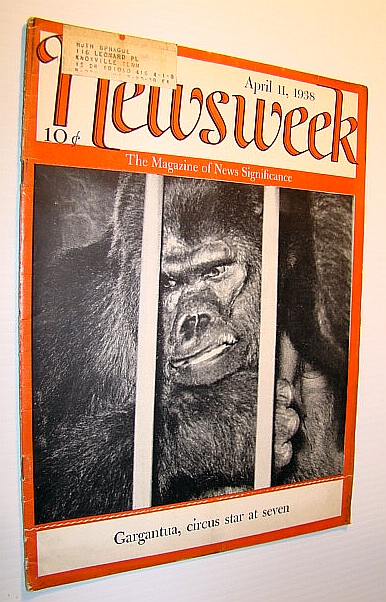 Image for Newsweek Magazine, April 11, 1938 - Gorilla Cover Photo