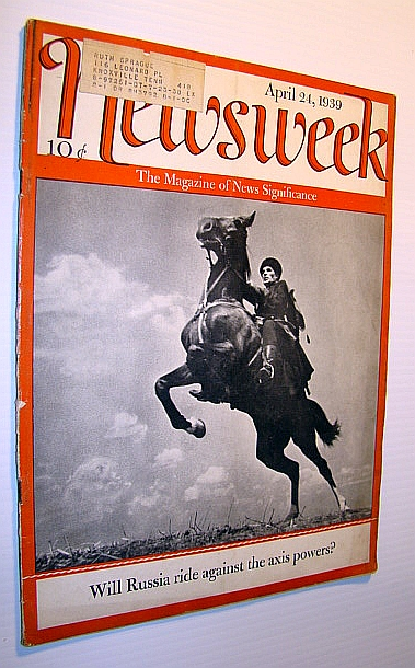 Image for Newsweek - The Magazine of News Significance, April 24, 1939